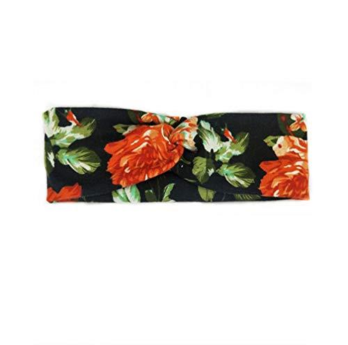Classique De La Mode Motif Floral Tissu Hommes Dchen Mode Chic Bande De Cheveux Dames Sport Flexible Bandeau Bandeau Dames Bandeau 22 * 6 (Color : Blumen 3, Size : 22 * 6.5CM)