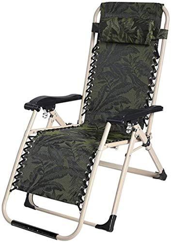 DFANCE Silla plegable ligera para camping, reclinable, para playa, jardín, camping, exterior, color verde