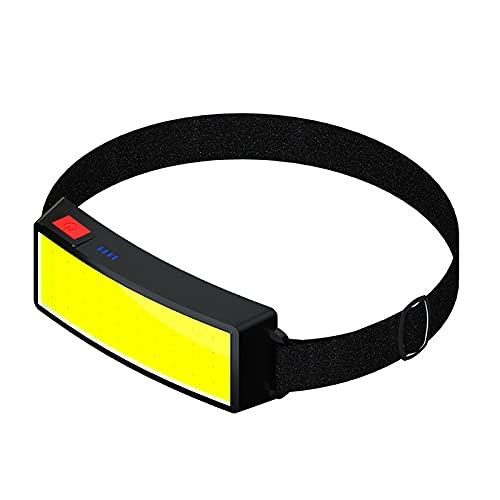 GSYNXYYA Torcia Frontale, Lampada Frontale da Corsa A LED Ricaricabile USB 1200Mah, Illuminazione Esterna COB per Ciclismo con Luce Soffusa, per Campeggio, Escursionismo,2 PCS