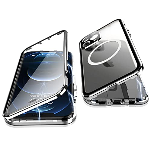 Jonwelsy Cover per iPhone 12 PRO, 360 Gradi Protezione Doppia Faccia Compatibile Magsafe...