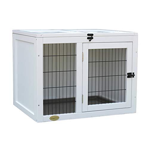 Hundehütten Hundehütten Im Freien Hundehaus Aus Holz Hundehaus Innenmassivholz Katze Und Hund Cage Haus Haustier-Haus Cabinet Display Box Cabinet Hütten & Zwinger ( Color : Weiß , Size : 51*51*65cm )