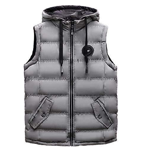 Herren Herbst Winter Mantel Freizeit Sport Outdoor Gepolsterte Baumwolle Weste Warme Kapuze Dicke Weste Softshell Jacke Top