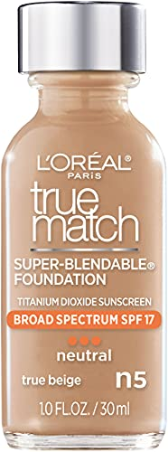 L'Oreal Paris Makeup True Match Super-Blendable Liquid Foundation, True Beige N5, 1 Fl Oz,1 Count