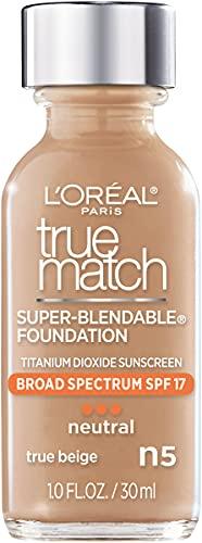 L'Oreal Paris Makeup True Match Super-Blendable Liquid Foundation,...