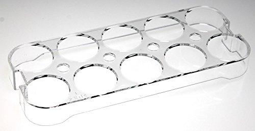 Uniwersalny uchwyt na jajka 2252 do lodówki, lodówki/zamrażarki, do zabudowy, na maksymalnie 10 jajek, wymiary (wys. x szer. x gł.): 2,5 cm x 23,5 cm x 9,5 cm (wymiary należy sprawdzić !)
