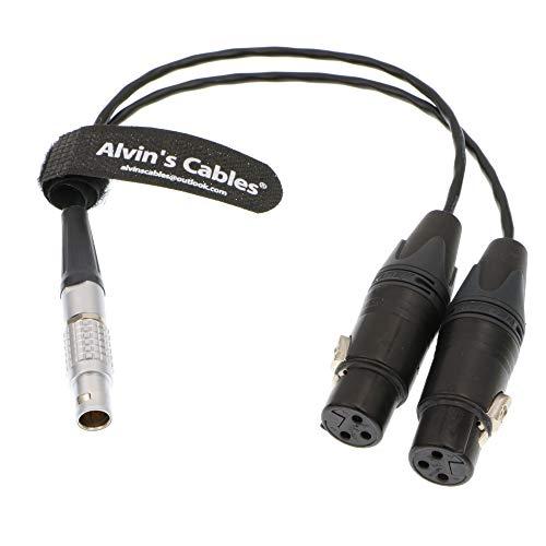 Alvin's Cables XLR Breakout Audio Eingangskabel für Atomos Shogun Monitor Recorder 10 Pin Stecker auf Dual XLR 3 Pin Buchse