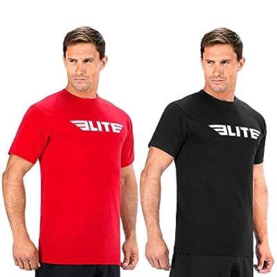 Elite Sports Gym Workout Athletic fit T-Shirt T-Shirts for Men Crossfit Training MMA BJJ Black