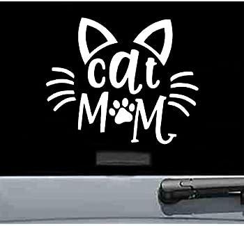 SterlingDesignsShop Removable Cat Mom Decal