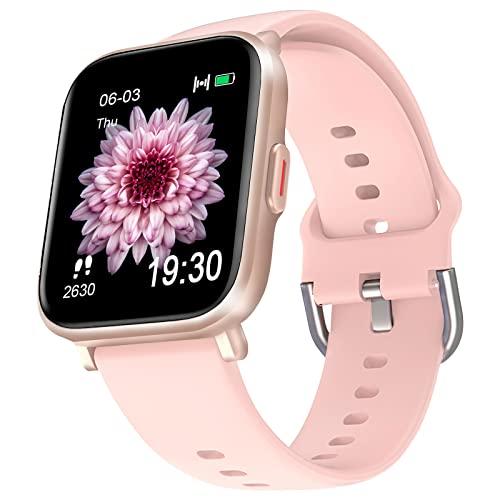 ZOSKVEE Reloj Inteligente Mujer Hombre, Smartwatch 18 Modos Deportivos con Ritmo Cardíaco Podómetro Cronómetro Calorías Sueño Brújula, Pulsera Actividad de Natación Impermeable 5ATM para Android iOS