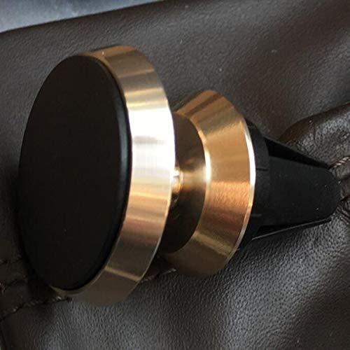 Tree-es-Life Soporte para teléfono para automóvil Aire Acondicionado magnético Salida de Aire Soporte a presión Local Gold Teléfono móvil Tableta Multifunción Universal