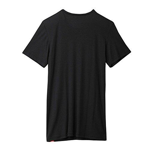 [グンゼ]インナーシャツホットマジック柔らか温かVネックTシャツMH1915メンズブラック日本M(日本サイズM相当)