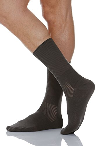 Relaxsan 550 (Anthrazit, Gr.5) Kurze Socken Diabetes mit X-Static Silberfasern
