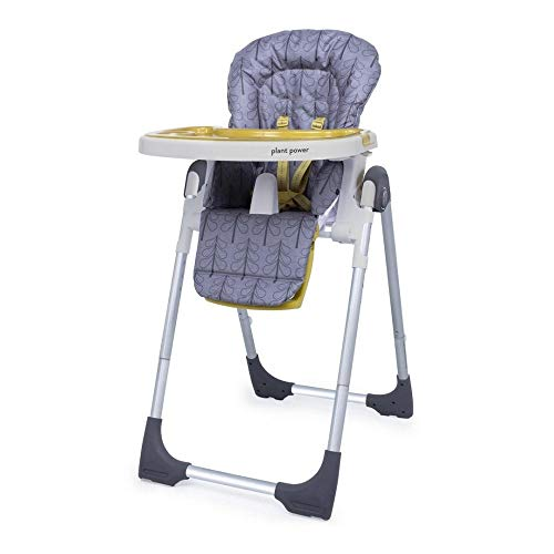 Cosatto Noodle 0+ Highchair |Compact, Height Adjustable, Foldable, Easy Clean, From birth to 15kg (Fika Forest)