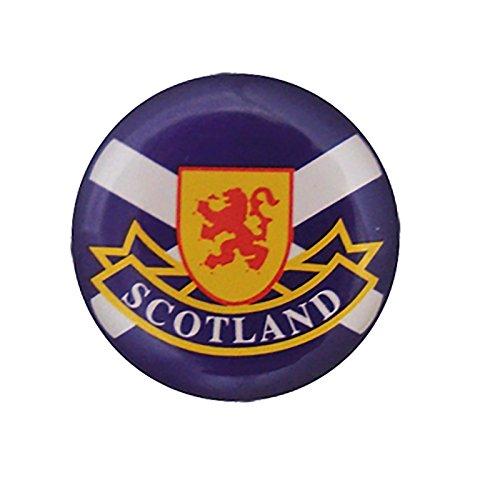 Pin redondo de metal de la bandera escocesa de San Andrés Saltire con el león Rampant y Escocia