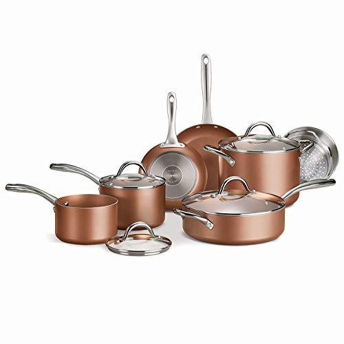 Tramontina Cookware Set Nonstick 11-Piece Metallic Copper 80143/590DS