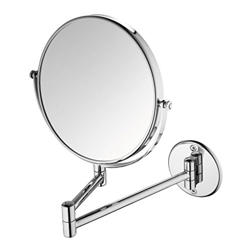 Branco Magnifying Shaving Mirror Makeup Mirror Wall Mount Foldable - Chrome