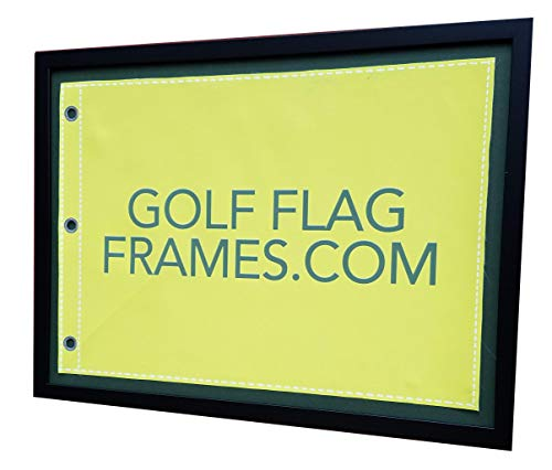 Golf Flag Frames Compact Black, Moulding blk-007, Reversible Green-Black Mat (Holds up to 14x20 Golf Flags; Flag Not Incl)