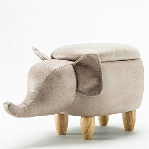 Otomano,Cuero Impermeable Versátil Almacenamiento Banco De Zapatos,Vaca En Forma De Animal Reposapiés Pequeño,Para La Habitación Para Niños Pasillo Descanso De Pies Escabels-O 63x33x36cm(25x13x14inch)