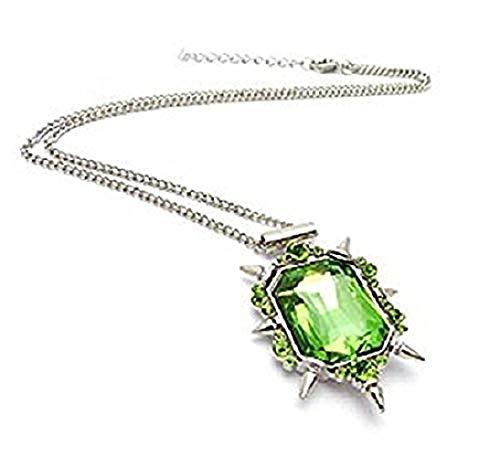 Ketting met groene zenenail kristallen hanger tovenaar van oz heks van het westen - cadeau idee once upon a time