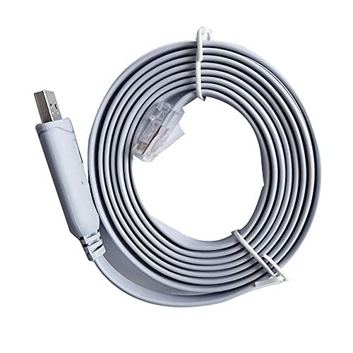 SENZHILINLIGHT Cable Adaptador de Consola USB a RS232 Serie a RJ45 CAT5...