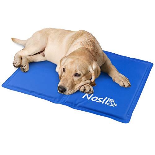 Nosli Kühlmatte für Hunde und Katzen - Idealer Schutz bei Hitze für Haustiere - Kältematte Selbstkühlend in verschiedenen Größen/Sea Blue L