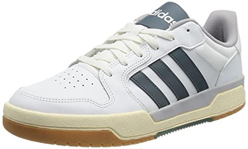 adidas ENTRAP, Scarpe da Basket. Uomo, Ftwwht Legblu Glogry, 46 EU