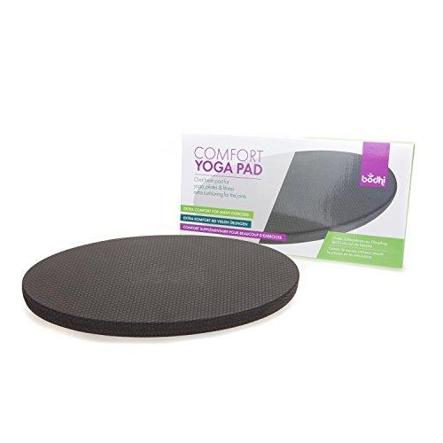 Comfort Yoga Pad, Ovales Schaumstoff-Kniekissen zur Entlastung der Knie und anderer Gelenke bei Yoga, Fitness, Gymnastik, Sport (36 x 18 x 2,6 cm)