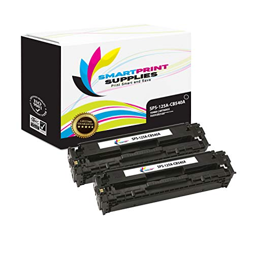 Smart Print Supplies Compatible 125A CB540A Black Toner Cartridge Replacement for HP Laserjet CP1215 CP1515 CP1518, CM1312 Printers (2,200 Pages) - 2 Pack