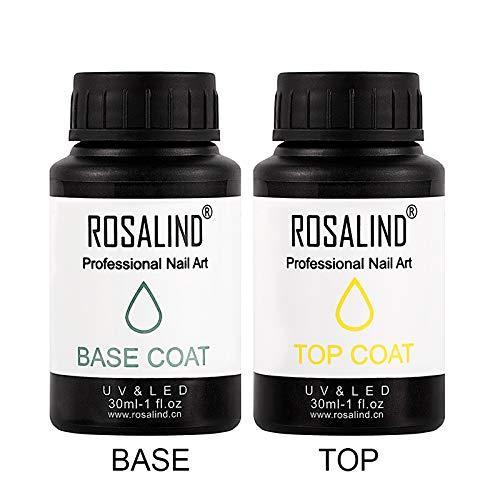 ROSALIND 15 ml y 30 ml Nail Gel Polish Base y Top Coat Art Soak Off Barniz semipermanente UV