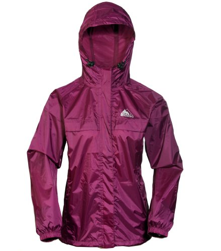 Cox Swain 2-Lagen Damen Outdoor Funktions Regenjacke - 3.000mm Wassersäule -3.000mm Atmungsaktivität, Colour: Berry, Size: S