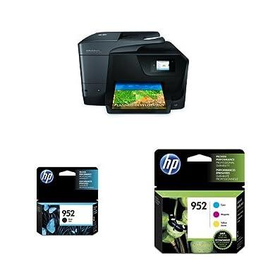 HP OfficeJet Pro 8710 Inkjet Printer and Standard Ink Bundle