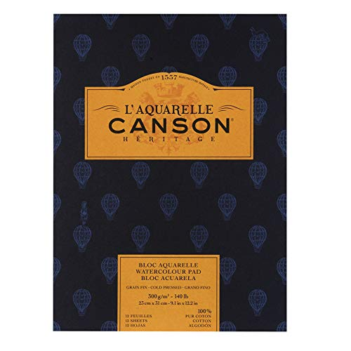 Canson Cold Press Heritage, blanco