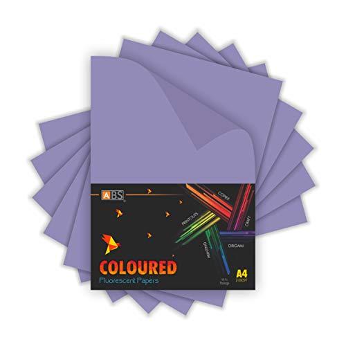 Freelance Enterprise ABS brand fluorescent paper A4 Size- Light Purple,(Pack of 100)