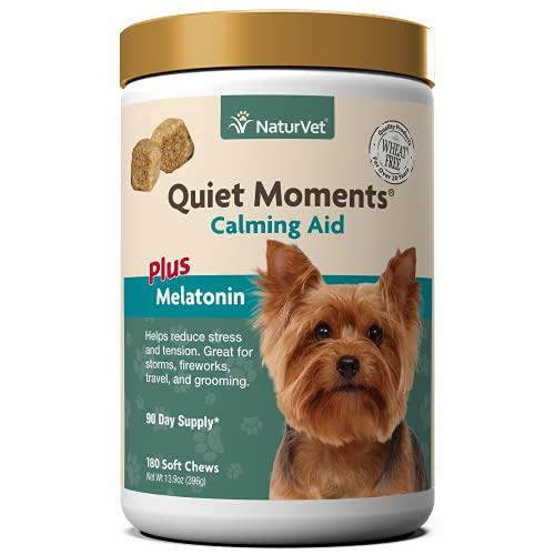 NaturVet Quiet Moments Calming Aid Dog Supplement, Helps Promote...