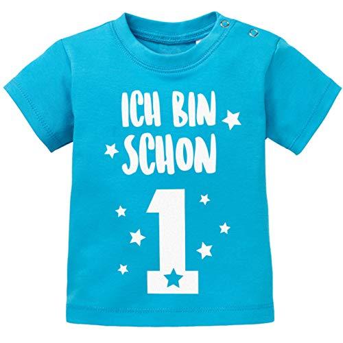 Jayess Geburtstag - Ich Bin Schon 1 - Baby Blau - T-Shirt by Baby Gr. 80/86