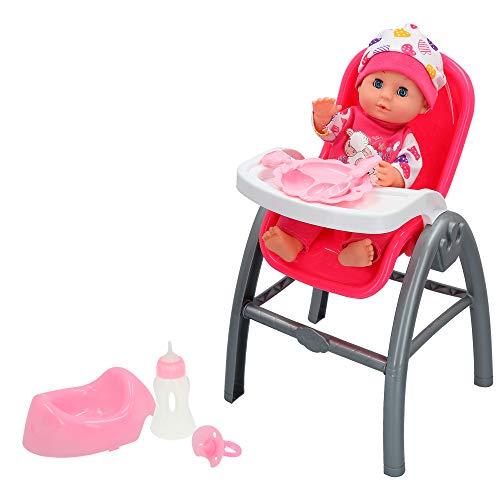 ColorBaby - Bebé con trona 3 en 1 y accesorios Colorbaby's (43786)