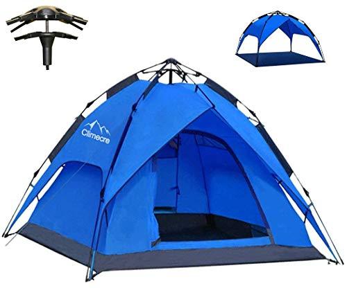 Climecare Wurfzelt Pop Up Zelt 2-3 Personen Campingzelte Winddicht Kuppelzelt Leichtes Sekundenzelt Sofortiges Aufstellen Strandzelt Familienzelt