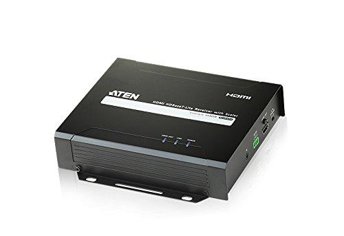 Aten VE805R 57833D HDMI HDBase T-Lite Receiver mit Scaler, 1080p schwarz