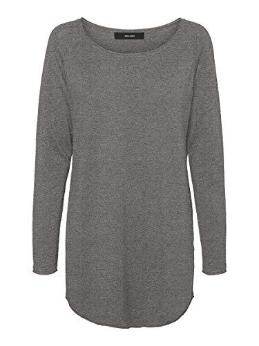 VERO MODA Female Pullover Gestricktes MMedium Grey Melange
