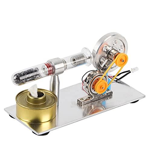 Motore sterling a cilindro singolo, educazione al calore vapore motore kit giocattolo modello esperimento scienze fisiche modello di insegnamento di laboratorio