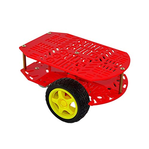 Ywzhushengmaoyi CR0024 Red Holey Two-drive Impertinent Car For Arduinos Electronics Module Parts
