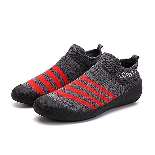 Sebasty Calcetines,Calzado de Ciclismo,Zapatillas Unisex,Zapatillas Sin Cordones,Calzado para Caminar Basket Homme,Grey-39