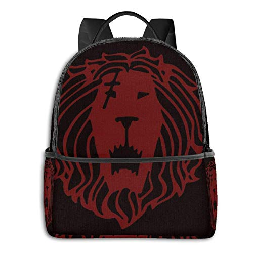 AOOEDM Lion's Sin of Pride (Tattoo Edition) Student School Bag School Cycling Leisure Travel Camping Outdoor Backpack