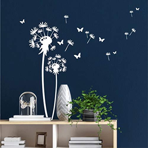 Wandtattoo Kleine Pusteblume mit Schmetterlingen/weiß /