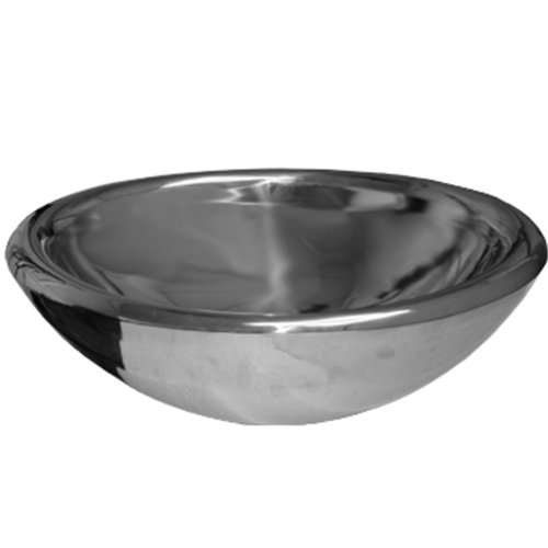 Whitehaus WHNVE217-MIRR Noah'S Collection 21 1/2-Inch Double Layer Above Mount Vessel Basin, Mirrored Stainless Steel
