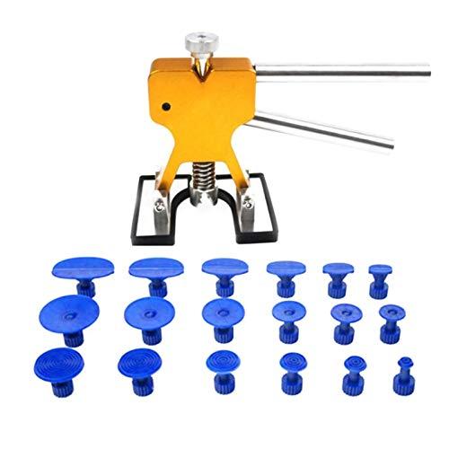 Car Body Paintless Dent Puller Lifter Repair Tool 18 Tabs Auto Dent Rimozione di Auto Dent Strumenti di Riparazione Auto Set Tool Kit Attrezzo Manuale Self-Use (Color : 1)