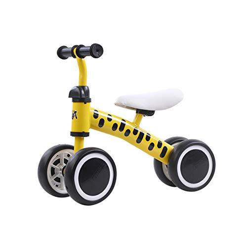 DDXY-Balance Bike Baby Walker Bicicleta Sin Pedales,Juguetes para Niños Juguete para Montar para Niños de 1 Año, Niñas de 10 A 36 Meses, Primer Regalo de Cumpleaños,Amarillo