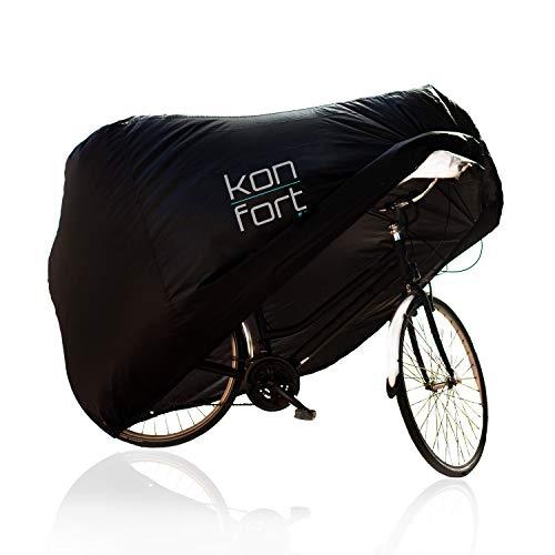 Fietshoes met slot van KON-FORT | Mountainbike & Wegfiets | Binnen & Buiten | Waterdicht & UV-bestendig & Stofdicht | 200x75x110cm (2 fietsen)