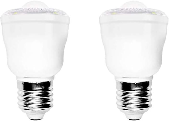 Pack de 2 E27 Bombillas LED Inteligente con Sensor Movimiento, Auto On/Off, Luz Noche para seguridad, 2W, 6500K Blanco Frío, AC 220V, No regulable