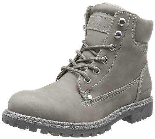 TOM TAILOR Damen 7990107 Stiefeletten, Grau Grey 00011, 39 EU